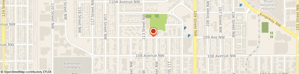 Route/map/directions to Cleanery The, T5H 1E1 Edmonton, 11210-109 Avenue