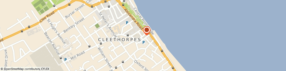 Route/map/directions to Bettles Miles & Holland, DN35 8EU Cleethorpes, 15, SEA VIEW STREET