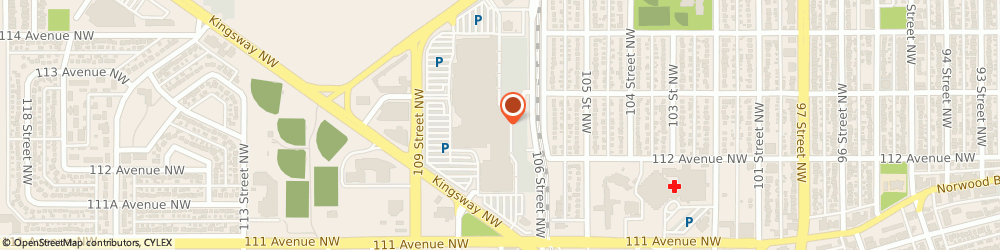 Route/map/directions to Kingsway Shoe Comfort, T5G 3E6 Edmonton, 760 Kingsway Garden Mall NW