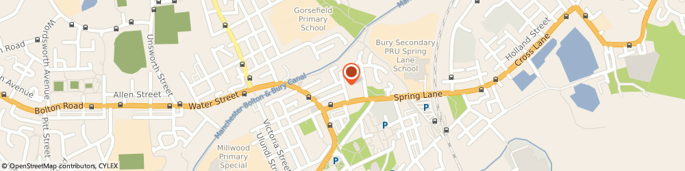Route/map/directions to Canalside Gardens, M26 4AA Manchester, Parsonage Street