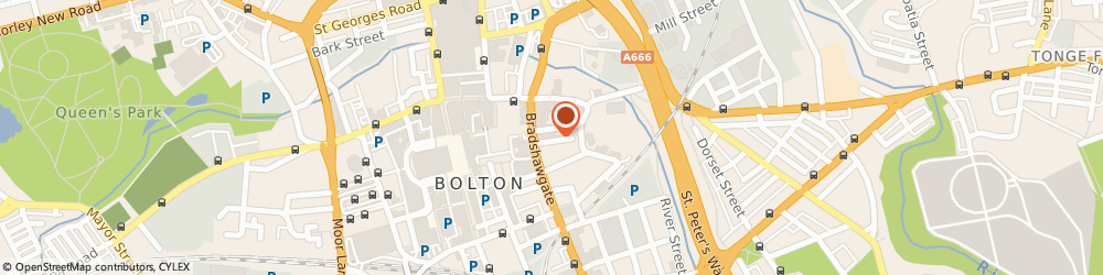 Route/map/directions to Russell and Russell Solicitors, BL1 1EE Bolton, 7-13 Wood St, Churchill House