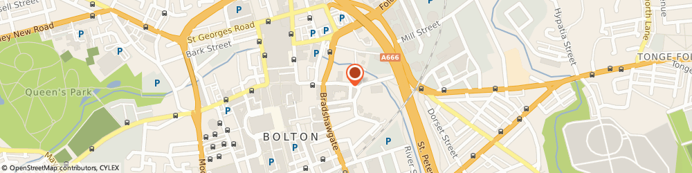 Route/map/directions to Cromptons Solicitors, BL1 1HL Bolton, Churchgate House, 30 Churchgate