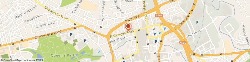 Route/map/directions to GMB, BL1 2DD Bolton, Jack Brown House, 80 St George's Road