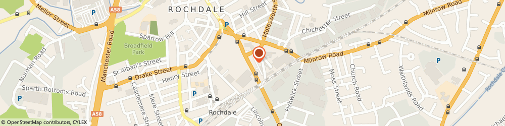 Route/map/directions to Lancashire Lock & Safe Co Ltd, OL16 5QR Rochdale, 77-79 Oldham Rd