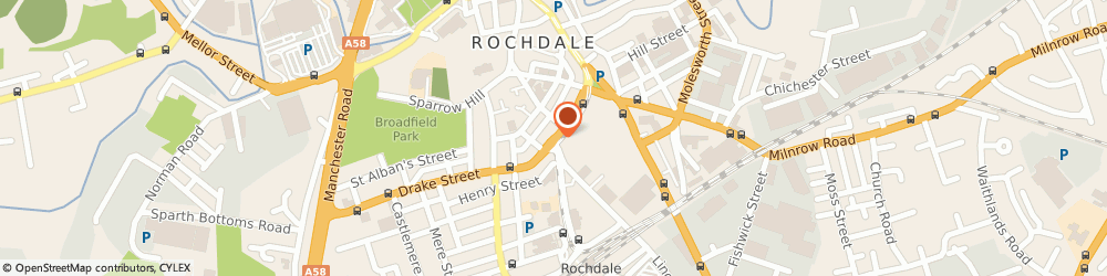 Route/map/directions to Power-on Ltd, OL16 1PQ Rochdale, 86 Drake St