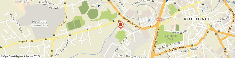 Route/map/directions to ROCHDALE MOTORS LIMITED, OL11 4HJ Rochdale, 1 Corporation Road, Unit 7B