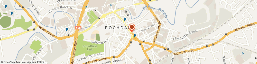 Route/map/directions to MEDICAL INJURIES REPORTS LIMITED, OL16 1PQ Rochdale, 96A Drake Street