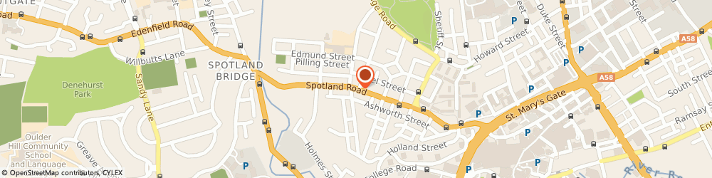 Route/map/directions to A1 Autocare, OL12 6PJ Rochdale, 131 Spotland Road