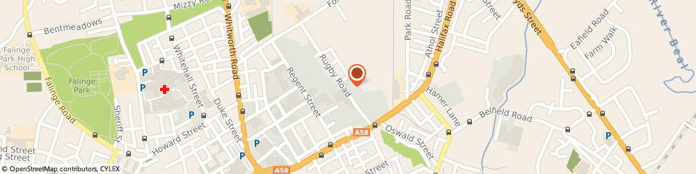 Route/map/directions to Bob Skip Hire, OL12 0DY Rochdale, 80B Rugby Road