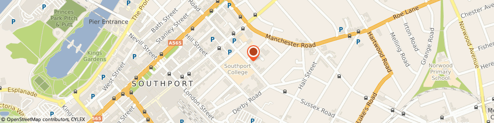 Route/map/directions to Alcoholics Anonymous, PR9 0QT Southport, 8 Church Street