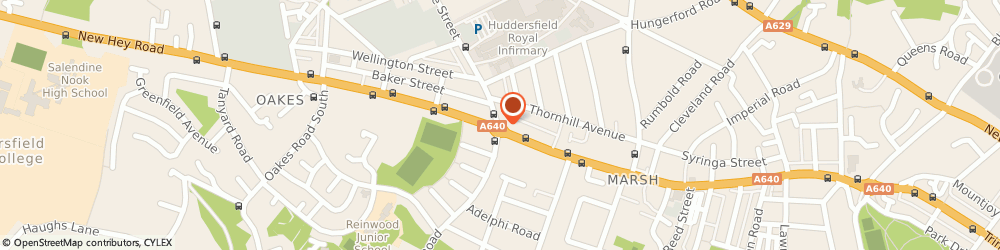 Route/map/directions to Ainley's Insurance Group, HD3 3DU Huddersfield, 2 Acre St