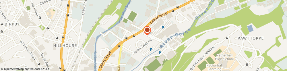 Route/map/directions to Sahibs Restaurant, HD1 6PD Huddersfield, 290 Leeds Road