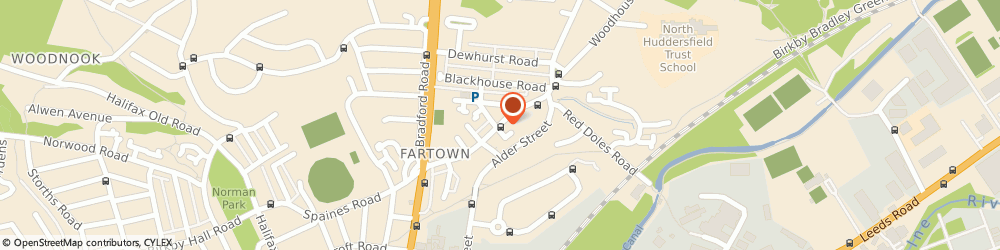 Route/map/directions to Post Office Limited, HD2 1AF Huddersfield, 53 Fartown Green Road