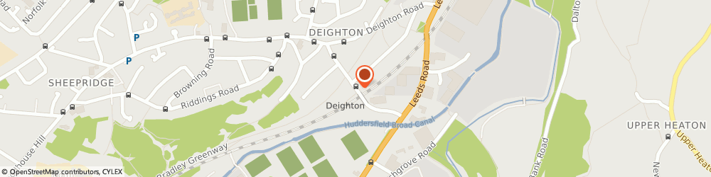 Route/map/directions to Northern Rail - Deighton station, HD2 1LX Deighton, Whitacre Road