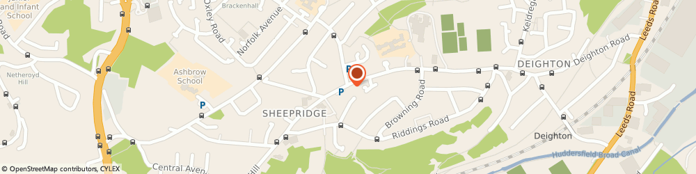 Route/map/directions to Post Office Limited, HD2 1HG Huddersfield, 86 Sheepridge Road