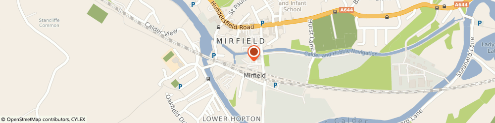 Route/map/directions to Northern Rail - Mirfield station, WF14 8NL Mirfield, Station Road