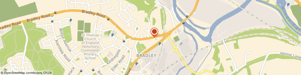 Route/map/directions to Secure glaze and locks, HD2 1UZ Huddersfield, 45 Bradley Rd