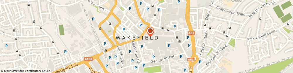 Route/map/directions to Hays Travel, WF1 1JY Wakefield, 2 Westgate