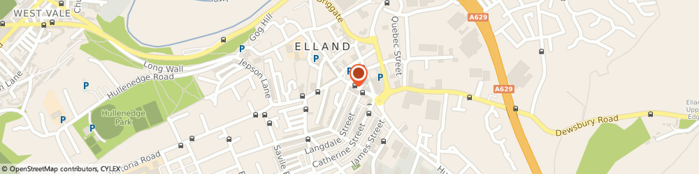 Route/map/directions to Post Office Limited, HX5 0EP Elland, 104 Southgate