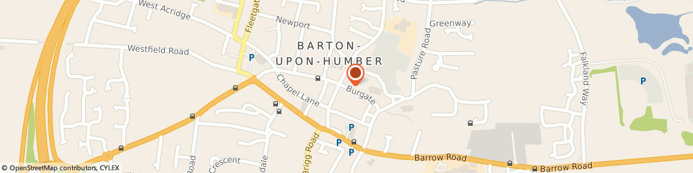 Route/map/directions to Post Office Limited, DN18 5HA Barton-Upon-Humber, 32 Burgate