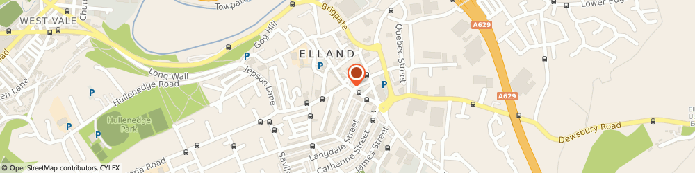 Route/map/directions to Whitakers Opticians Tracey Jane Armitage, HX5 0EP Elland, 79 Southgate