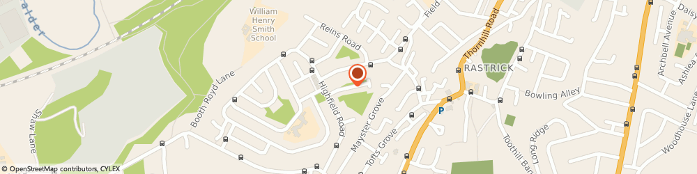 Route/map/directions to MR IMRAN RANGZEB - Town Hall Dental, HD6 1EA Brighouse, Thornton Square
