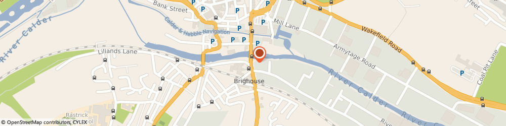 Route/map/directions to Brighouse Rail Station, HD6 1LE Brighouse, 9 GOODER LN BRIGHOUSE, WEST YORKSHIRE HD6 1HF 73 FT N