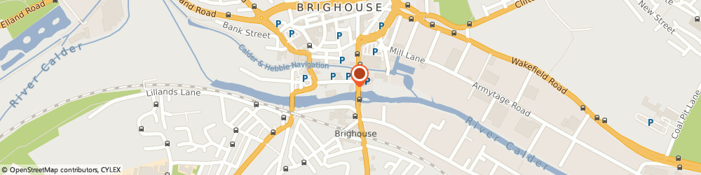 Route/map/directions to Crowtrees Service Centre, HD6 1JZ Brighouse, Old Crowtrees Garage, Huddersfield Road
