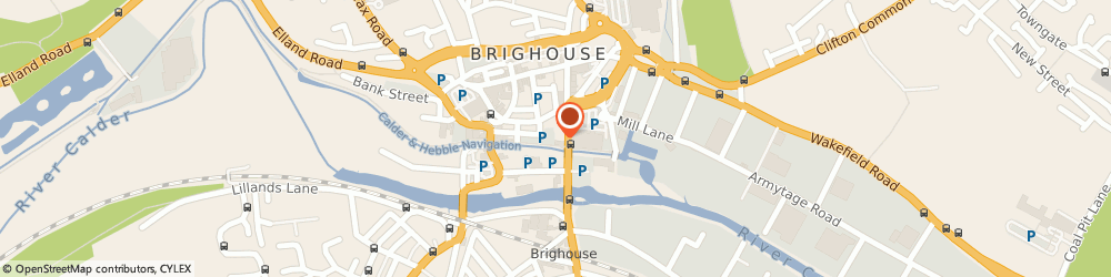 Route/map/directions to Basically Hair, HD6 1PP Brighouse, Wharfe Street, Unit 8, Victoria Works