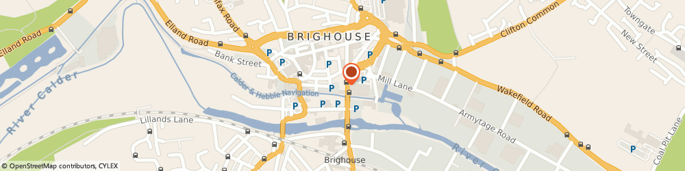 Route/map/directions to DP's Smoothie & Coffee Bar, HD61JZ Brighouse, 10 Huddersfield Road