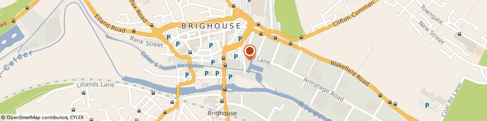 Route/map/directions to Jeremy's at the Boathouse, HD6 1PP Brighouse, Wharf Street