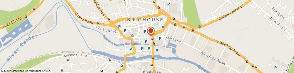 Route/map/directions to Mr Pizza, HD6 1JR Brighouse, 9 BETHEL STREET