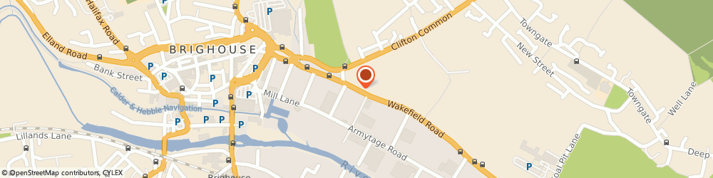 Route/map/directions to Shell, HD6 1QH Brighouse, Wakefield Road
