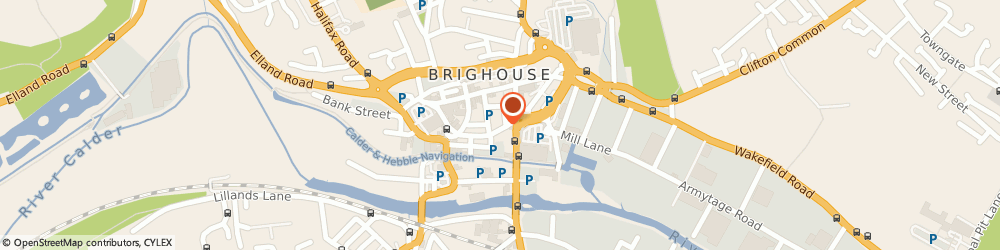 Route/map/directions to The Richard Oastler Brighouse, HD6 1JN Brighouse, 8 Bethel Street
