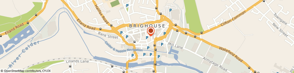 Route/map/directions to CB's Gym, HD6 1AB Brighouse, 2 Park Row