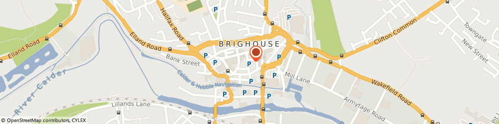 Route/map/directions to The Fitness Studio, HD6 1AB Brighouse, 2 Park Row