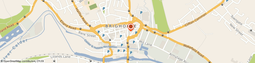 Route/map/directions to Park Row Hairdressing, HD6 1RW Brighouse, 20 Bradford Rd