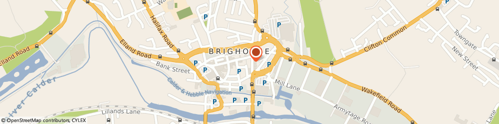 Route/map/directions to Brook's Restaurant, HD6 1RW Brighouse, 6, BRADFORD ROAD