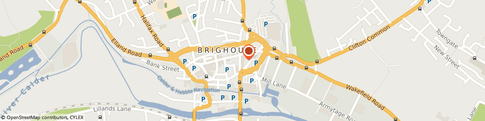 Route/map/directions to Yorkshire Bank, HD6 1RN Brighouse, 16 Bradford Road