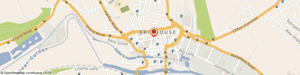 Route/map/directions to The Flower Garden, HD6 1AQ Brighouse, 46 Commercial St