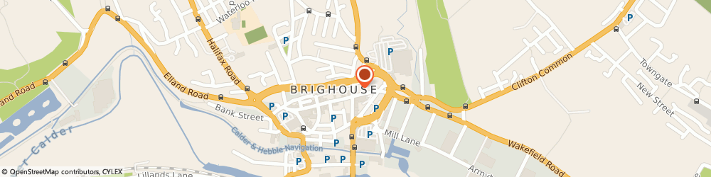Route/map/directions to Huddersfield Leather Goods Limited, HD6 1RW Brighouse, 28 Bradford Road
