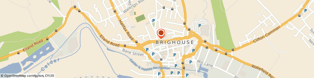 Route/map/directions to Legal Consultancy Services, HD6 1AT Brighouse, 16 CHURCH LANE