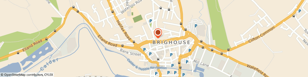 Route/map/directions to Rydings Hall Surgery, HD6 1AT Brighouse, Church Lane