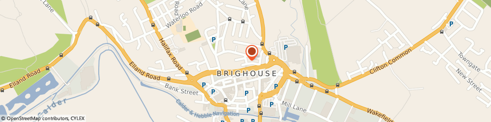 Route/map/directions to Eeze Covers, HD6 1PW Brighouse, 3 Eastwood St