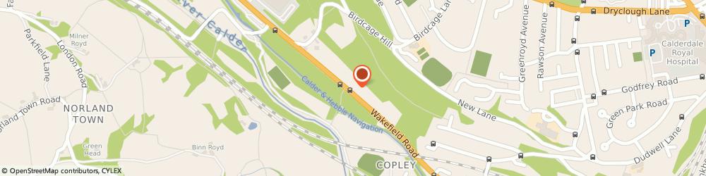 Route/map/directions to Copley Decking Services, HX3 0UN Halifax, 33 Woodhall Crescent