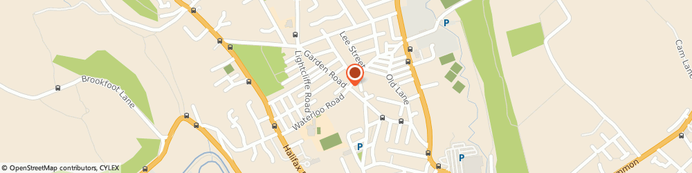 Route/map/directions to Picco's, HD6 2AX Brighouse, 1, GARDEN ROAD