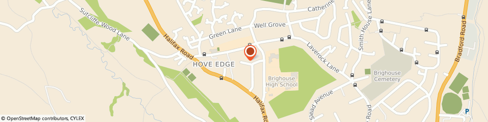 Route/map/directions to Adams Private Hire, HD6 2NU Brighouse, 23, MARYVILLE AVENUE, HOVEEDGE