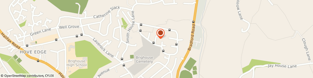 Route/map/directions to Mohamad Ikbal, HD6 2NQ Brighouse, 268 WHINNEY HILL PARK