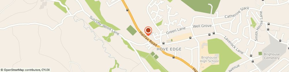 Route/map/directions to Dusty Miller Inn, HD6 2PB Brighouse, 290 HALIFAX ROAD