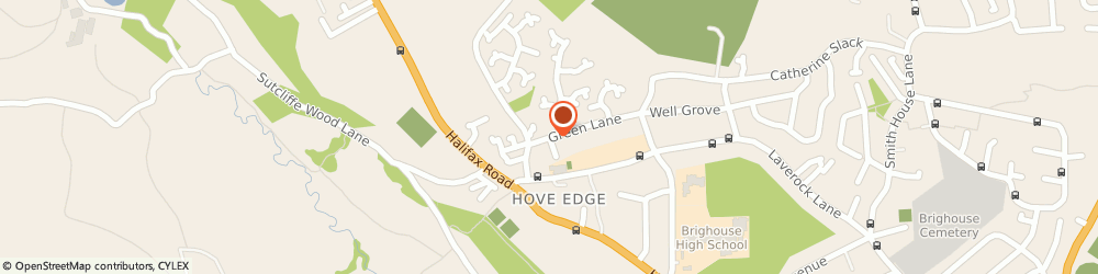 Route/map/directions to Wash.Comb, HD6 2PR Brighouse, 1 St Chad's Ave